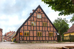 Old half-timbered house in Lund Stock Images