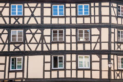 Old half-timbered houses Stock Photo