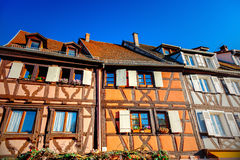 Old half-timbered houses Stock Photography