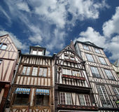 Old half-timbered houses in Rouen Royalty Free Stock Photo
