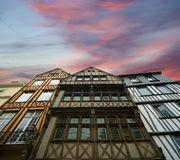 Old half-timbered houses in Rouen,  Haute-Normandy, France Stock Images