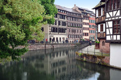 The old half-timbered houses of Strasbourg. Royalty Free Stock Images
