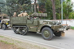 Old half-track military vehicle Royalty Free Stock Images
