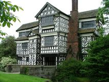 The old Hall. An old timbered building Stock Image
