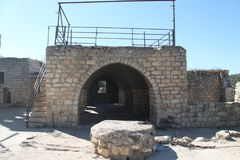 Old Church Hall, Yehiam Fortress, Israel. Old hall historic building at Yehiam fortress, Israel Royalty Free Stock Photo