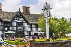 OLd Hall Hotel and pub in the Picturesque Town of Sandbach in South Cheshire England Royalty Free Stock Images