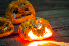 Old halloween pumpkin Royalty Free Stock Photography