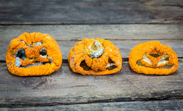 Old halloween pumpkin Stock Photos