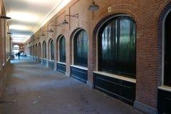 Old hallway. Old brick hallway near University van Amsterdam, Netherlands Royalty Free Stock Photo