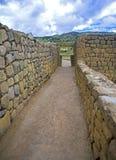 Old hallway at Ingapirca ruins. Old hallway at the ancient Inca city ruins of Ingapirca, Ecuador, on an overcast day Royalty Free Stock Photography