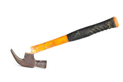 Old hammer and a broken handle. Old hammer and a broken handle on a white background Royalty Free Stock Photos