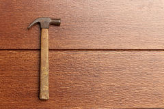 Old hammer. Close up of a steel claw hammer Stock Photos