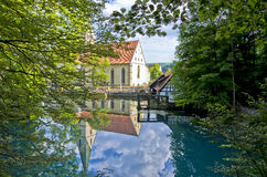Old Hammer Forge And Abbey Church Royalty Free Stock Photo