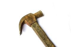 Old hammer on isolated background Royalty Free Stock Images