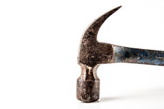 Old hammer isolated on white Royalty Free Stock Photos