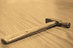 Old hammer.Sepia. Royalty Free Stock Photography