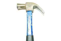 Old hammer on white background Stock Photos