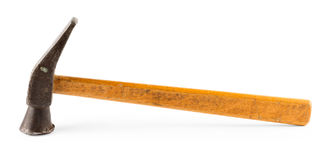 Old hammer with a wooden handle Stock Photos