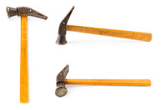 Old hammer with a wooden handle Stock Photography