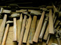 Old Hammers Stock Images