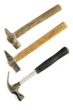 Old hammers on white background. Royalty Free Stock Images