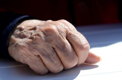 Old hand Stock Images