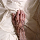 An old hand. The hand of a very old male person Royalty Free Stock Image
