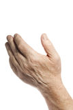 Old hand. Over white background Stock Images