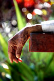 Old hand. Resting old hand in sun Royalty Free Stock Image