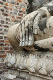 Old hand of buddha statue Stock Images