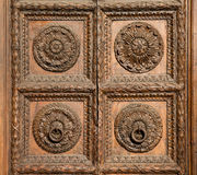 Old Hand Carved Door Royalty Free Stock Photo