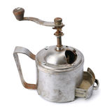 Old hand a coffee grinder on white background Royalty Free Stock Image