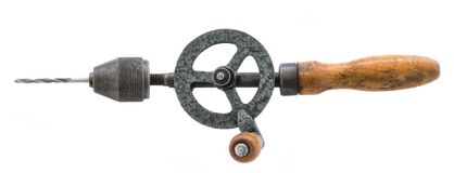 Old hand drill Stock Photo