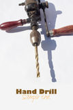 Old hand drill Royalty Free Stock Image