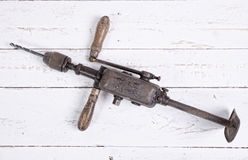 Old hand drill Royalty Free Stock Photos