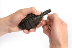 Old hand grenade Stock Photos