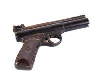 Old hand gun. On a plain white background Stock Photo