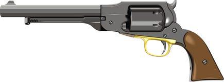 Old hand gun (pistol) Stock Images