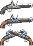 Old hand guns Stock Photos