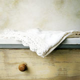 Old hand made linen Stock Photo
