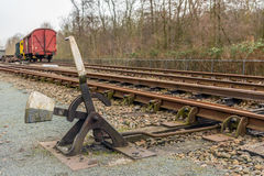 Old hand-operated railroad switch Stock Image