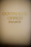 Old Hand Painted Lettering on the Governor's Office Door Royalty Free Stock Image