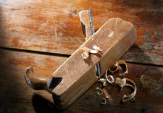 Old Hand Plane Stock Image