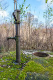 The old hand pump on the well Stock Images