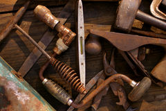 Old Hand Tools Royalty Free Stock Images