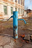 Old hand water-pump in Kursk, Russia Royalty Free Stock Photo