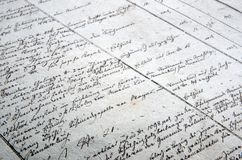 Old hand writing background Stock Photos