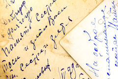 Old hand written letter Royalty Free Stock Image