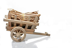 Old handcart with straw Stock Images