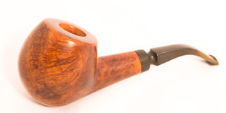 Old Handcrafted Smoking Pipe Stock Photo